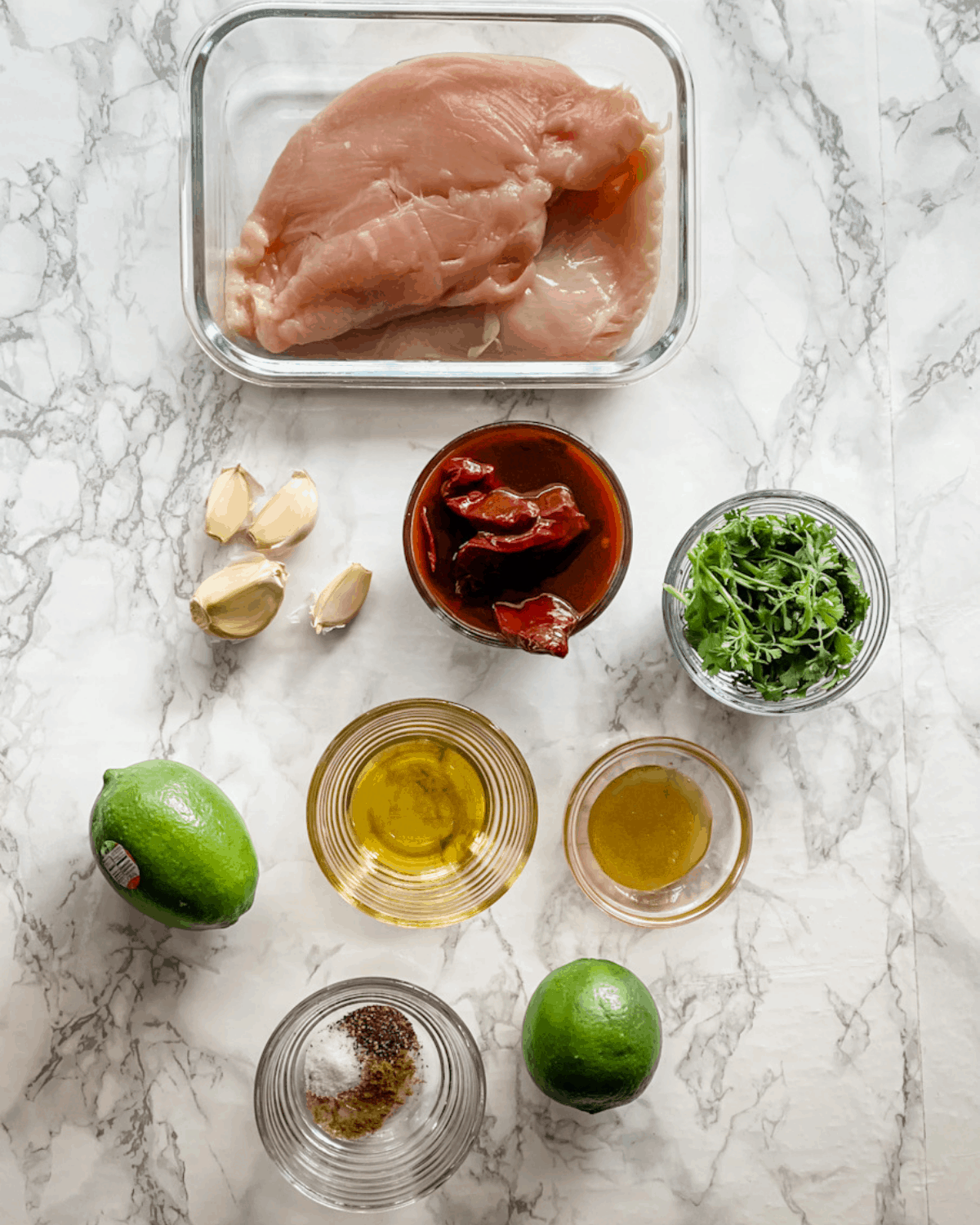 ingredients to make chipotle grilled chicken.
