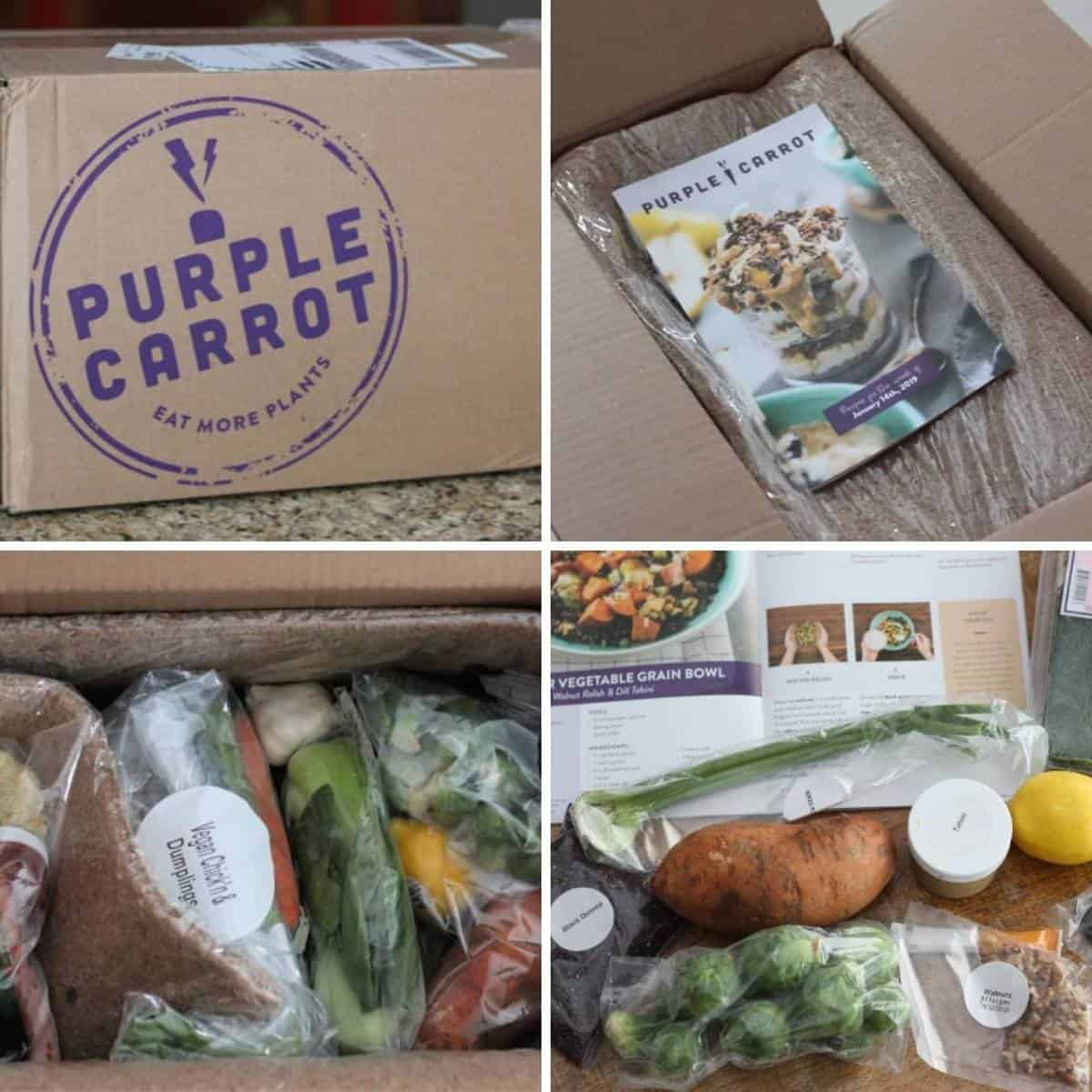 my experience getting meal kits from purple carrot