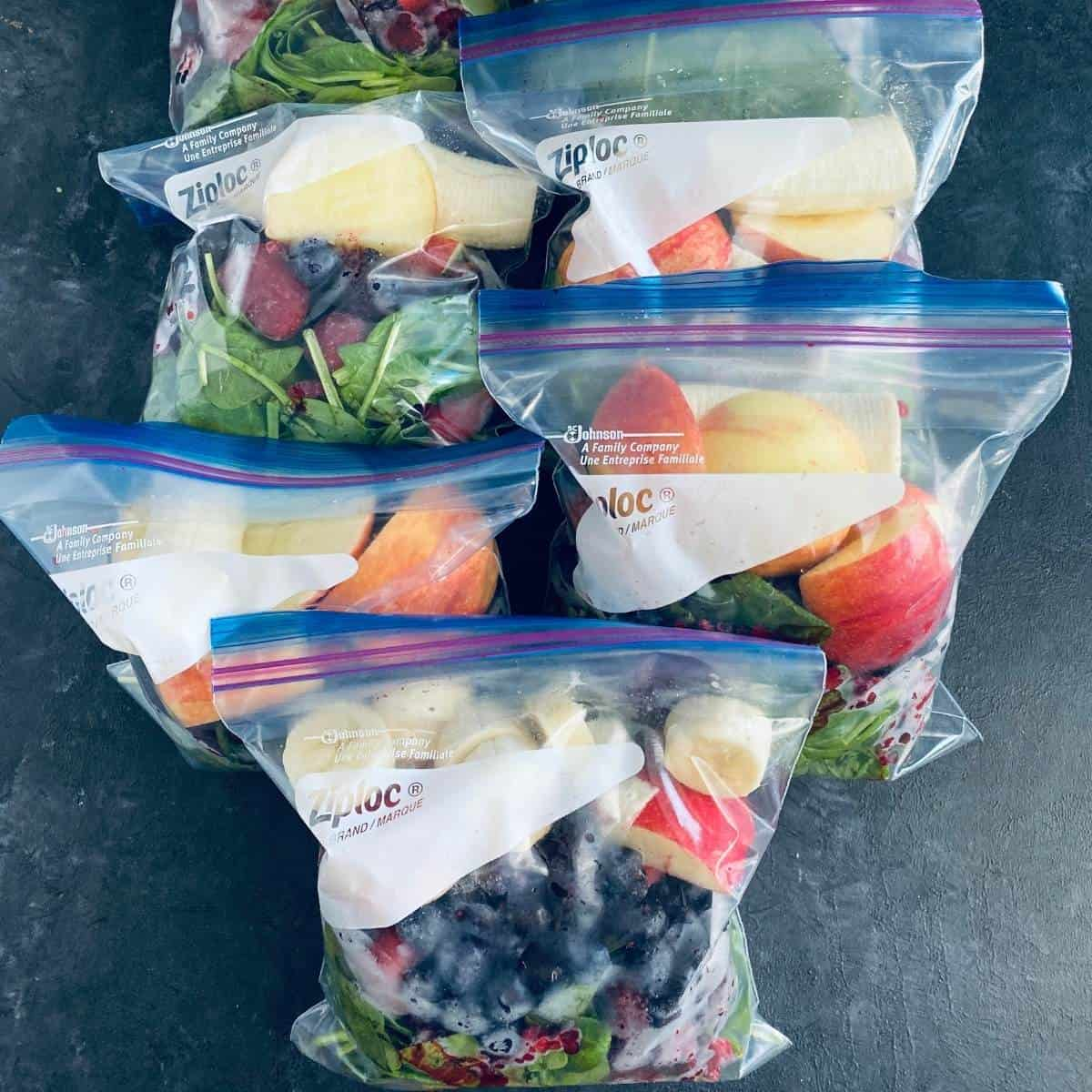 frozen smoothie packs to make for the week.