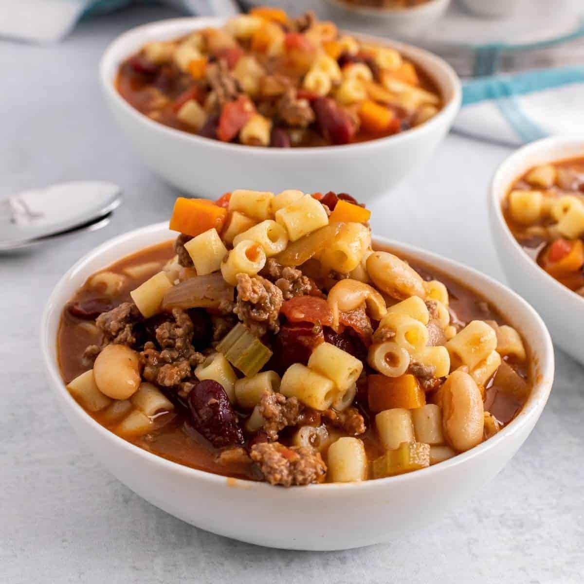 Pasta e fagioli. The best copycat Olive Garden soup recipe.