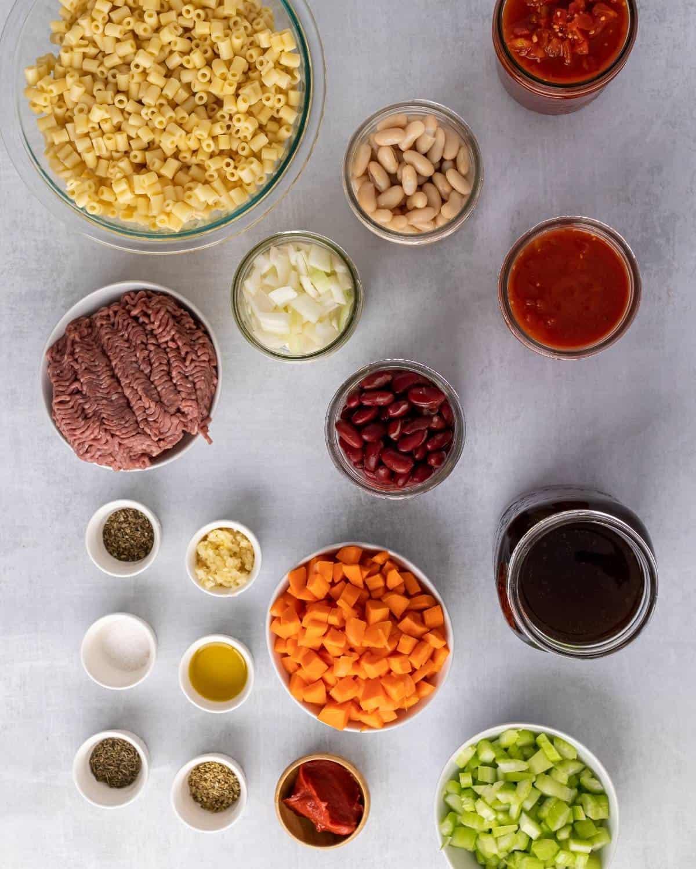 ingredients to make Pasta Fagioli