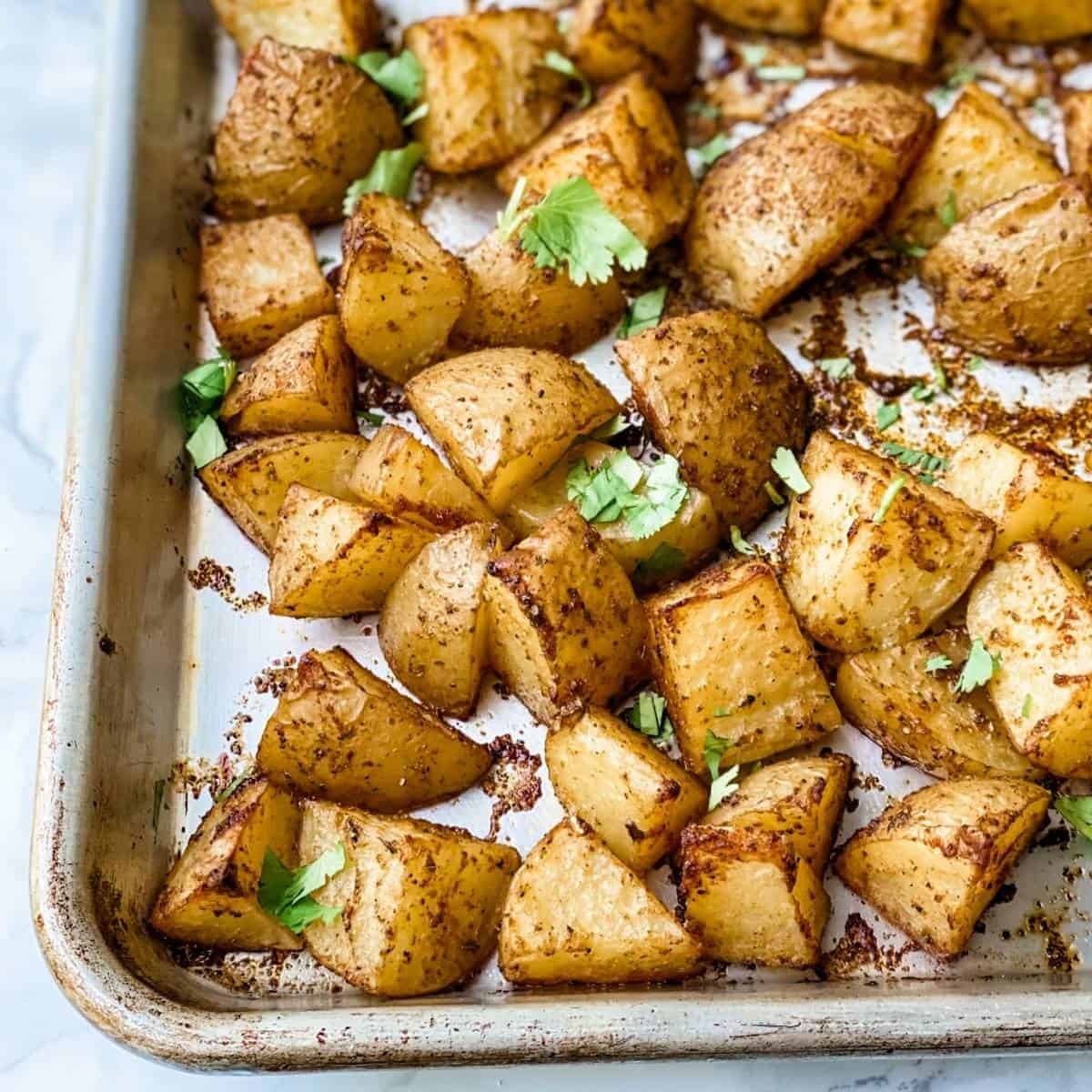 mexican potatoes roasted in the oven