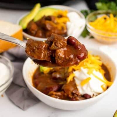 Slow Cooker Chuck Roast Chili