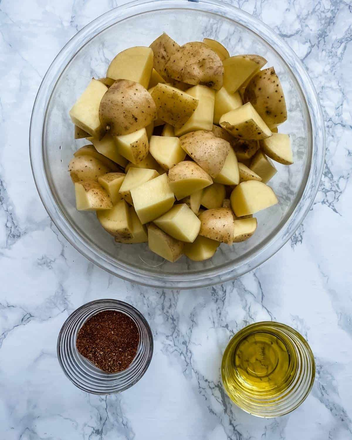 ingredients to make mexican potatoes