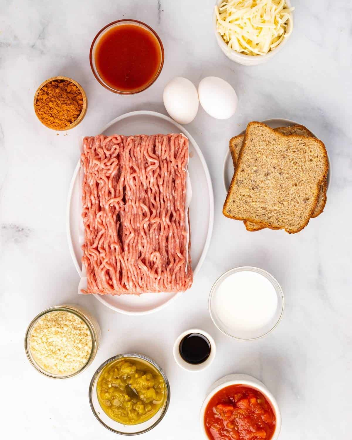 ingredients to make mexican meatloaf recipe