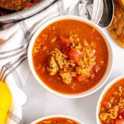 healthy stuffed pepper soup