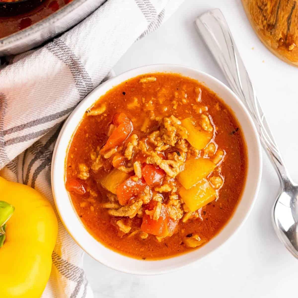 healthy stuffed pepper soup recipe